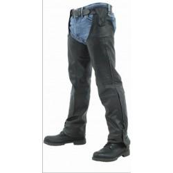 Chaps pierneras de cuero para moto / enganche al cinturon / unico diseño
