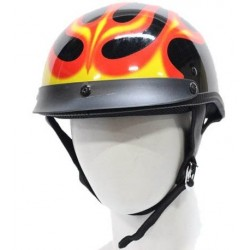 Casco abierto DOT Certificado Flamas Airbrush