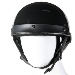 Casco abierto DOT Certificado negro brillante