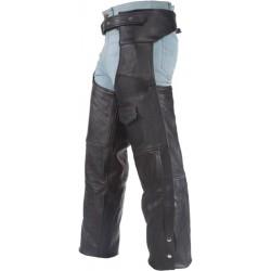 Chaps Pierneras de Cuero para motos / alta calidad / forrado por dentro